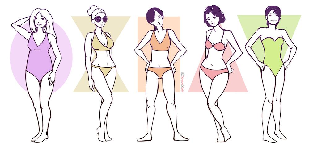 le forme del corpo femminili