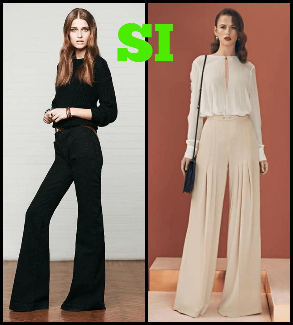 Pantaloni donna clessidra