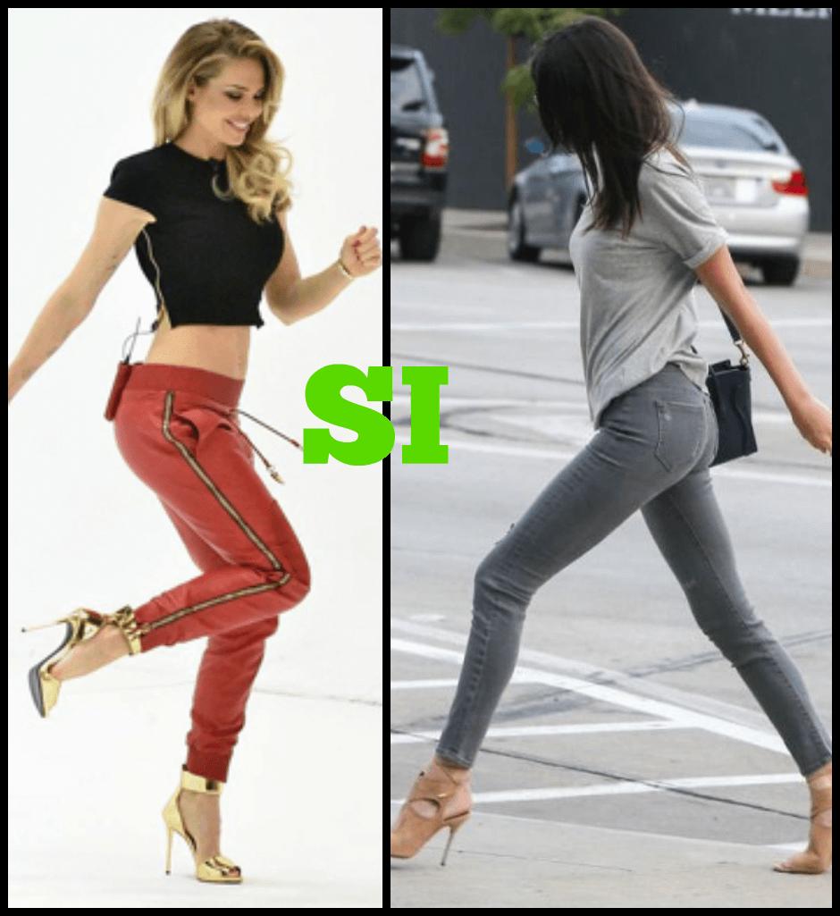 Pantaloni per donna fisico rettangolo