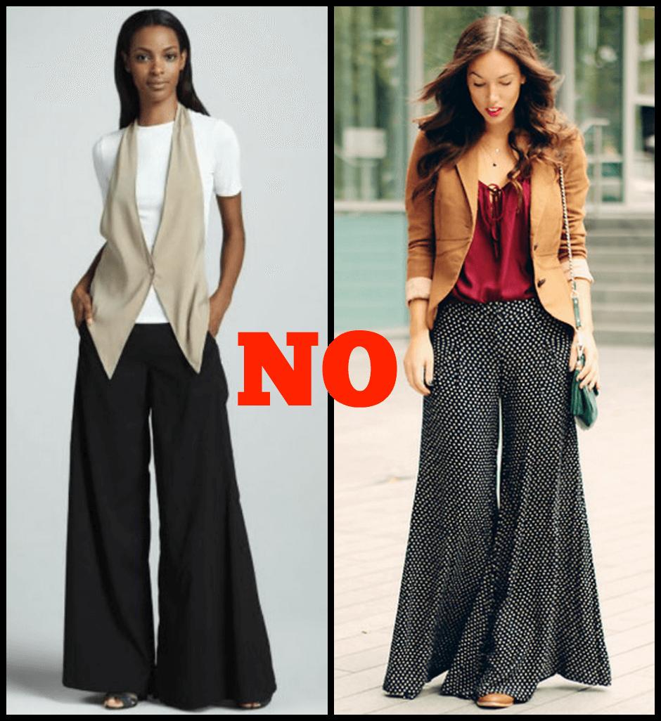 pantaloni no donna rettangolo