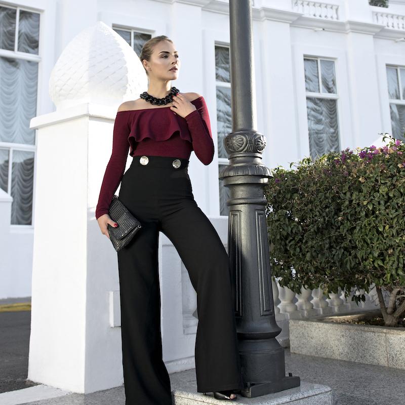 Eleganti Body A Spalle Un Palazzo Scoperte Pantaloni E u3lcT15FKJ