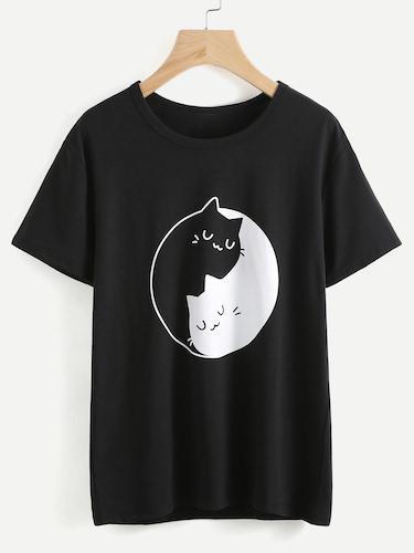 t-shirt divertenti romwe