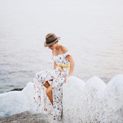 Una passeggiata al mare e un ABITO LUNGO A FIORI