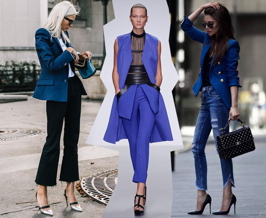 Quali scarpe colorate vanno con un vestito blu scuro
